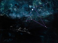 By Night: Eagle Star Constellation, 30x40 acrylic on canvas