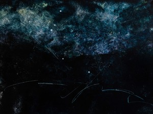 By Night: Octans Star Constellation, 30x40 Acrylic on Canvas